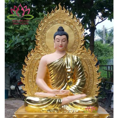 Tượng Phật Bổn Sư Thích Ca bằng composite 120 cm