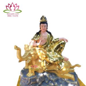 Tượng Phổ Hiền Bồ Tát bằng composite đẹp