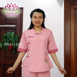 Quần áo đi lễ chùa trang nhã dễ thương cho nữ màu hồng