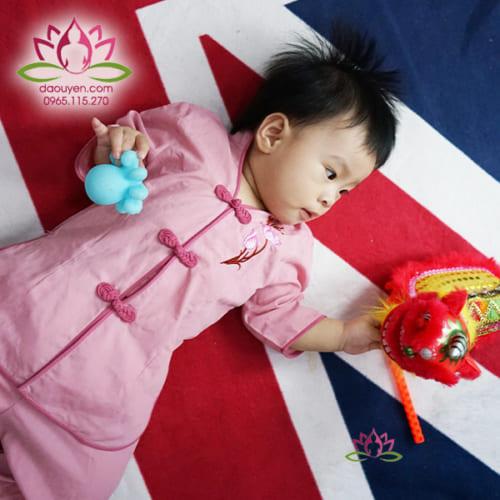 Áo Lam, Đồ lam đi chùa cho bé gái dễ thương màu hồng